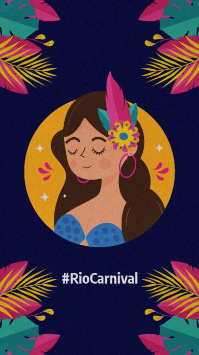 Instagram Story Generator Featuring Brazilian Carnival Illustrations 2213b