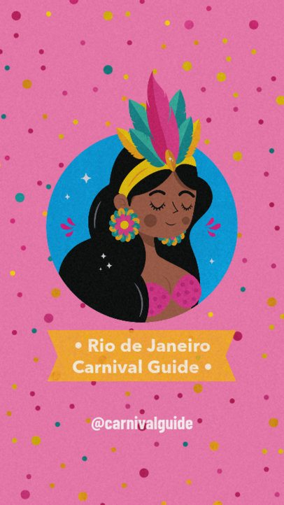 Brazilian Carnival Instagram Story Creator Featuring a Dotted Background 2213c
