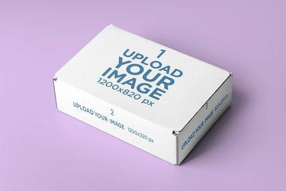 Minimalistic Mockup of a Cardboard Box 2572-el1