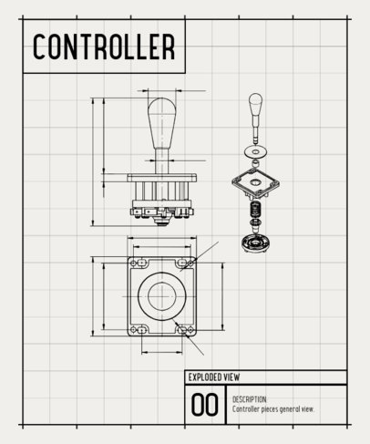 Gaming T-Shirt Design Maker with a Diagram of a Retro Nintendo Controller 244a-el1