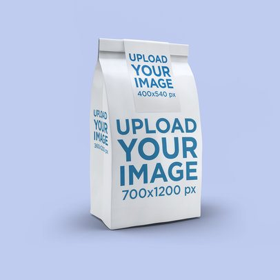 Paper Bag Mockup Featuring a Solid Color Backdrop 2580-el1