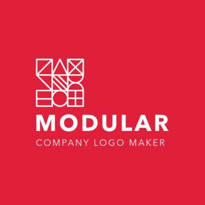 Logo Maker with a Minimalistic Modular Graphic 2854d