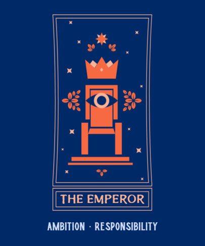 T-Shirt Design Creator with an Imponent Tarot Card Illustration 2197d