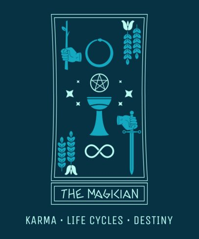 T-Shirt Design Maker for an Occultism Fan 2197f