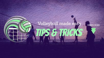 YouTube Banner Maker for a Sports Channel About Volleyball 2033g-2217