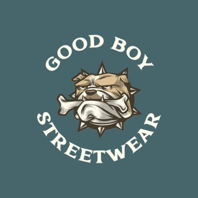 Urban Clothing Logo Template Featuring a Bulldog Graphic 700a-el1