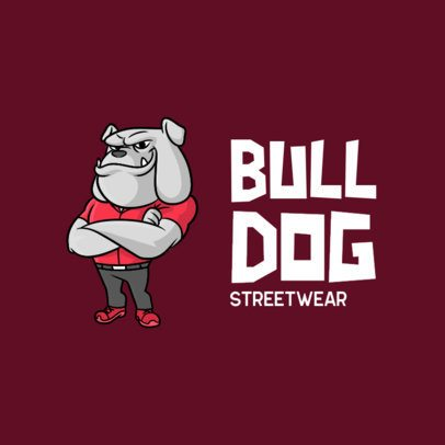 Clothing Logo Maker with a Cool Humanized Bulldog Character 699b-el1