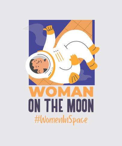 T-Shirt Design Generator with a Female Astronaut 2192c