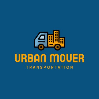 Moving Company Logo Maker with a Clever Icon 695a-el1