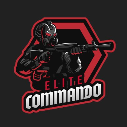 Gaming Logo Maker Featuring an Armed Masked Character 2898c