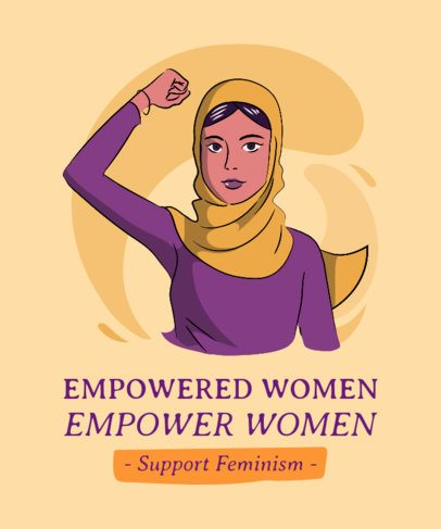 T-Shirt Design Maker Featuring an Empowered Woman Wearing a Hijab 2195h