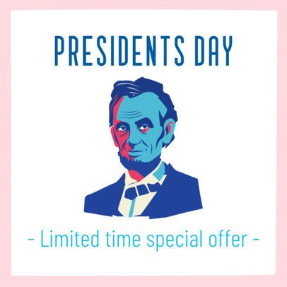 President's Day Instagram Post Maker for a Special Offer 2200d