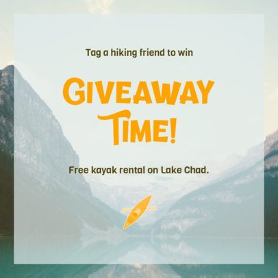 Instagram Post Generator Featuring Promotions for Outdoor Activities Enthusiasts 2240