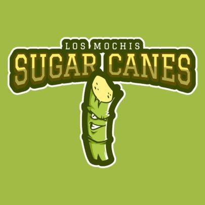 Sports Logo Maker Featuring a Sugarcane Clipart a484o-2930
