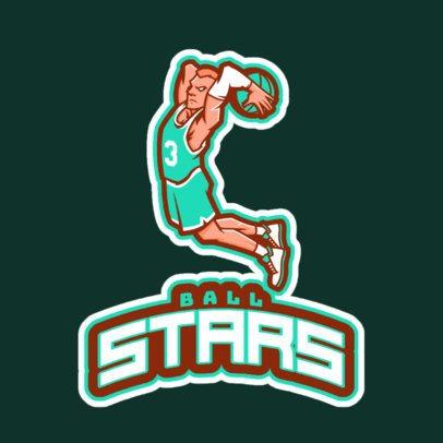 Sports Logo Generator Featuring a Basketball Player Illustration 29bb-2931