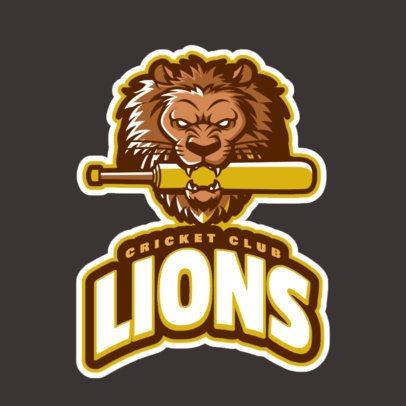 Cricket Logo Maker Featuring a Fierce Lion Mascot 1651m-2927