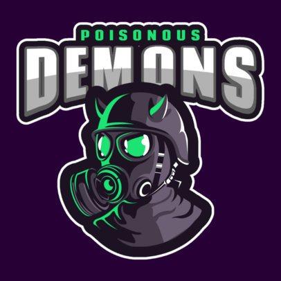 Gaming Logo Maker with the Illustration of a Horned Gas Mask 1869v-2927