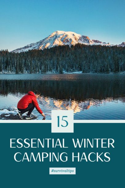 Pinterest Pin Generator with Winter Camping Recommendations 2245a