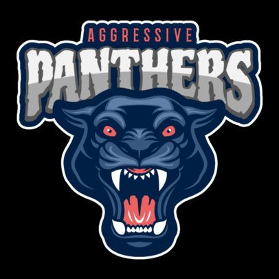 Sports Logo Maker With a Roaring Panther Graphic 120ll-2927