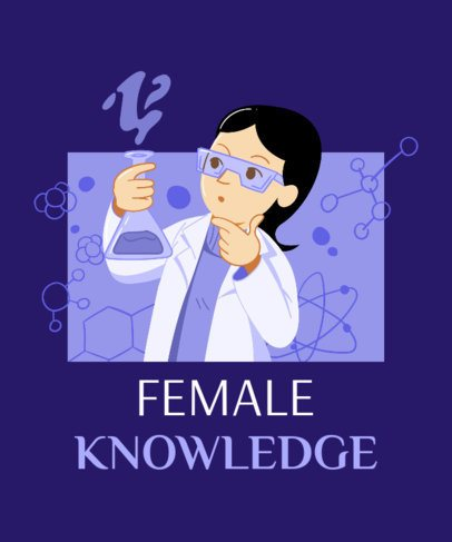 T-Shirt Design Generator Featuring a Female Scientist 2194a