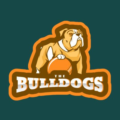 Sports Logo Generator Featuring a Bulldog Holding a Cricket Ball 1649i-2937