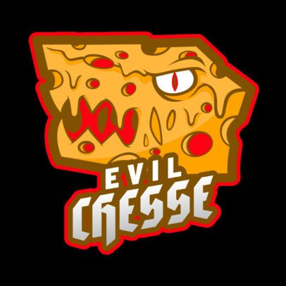 Gaming Logo Maker Featuring an Evil Cheese Graphic 2407c-2932