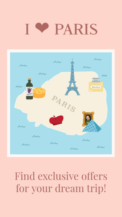 Illustrated Instagram Story Maker with Paris Main Attractions 2233f
