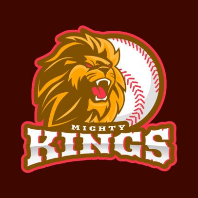 Sports Logo Generator with a Fierce-Looking Lion for a Baseball Team 172uu-2926