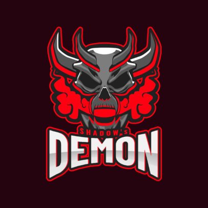 Gaming Logo Maker Featuring a Devilish Demon 1877t-2931