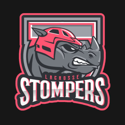 Logo Maker for a Hockey Team Featuring an Aggressive Rhino Graphic 1560n-2936