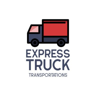 Transportation Company Logo Maker Featuring a Truck Icon and a Simple Style 755-el1