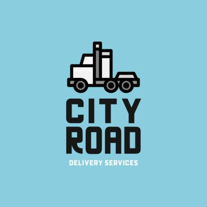 Logo Maker for a Transportation Company with a Cab Tractor Clipart 755b-el1