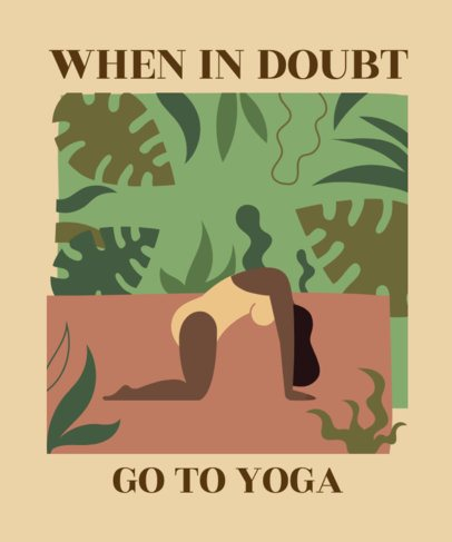 T-Shirt Design Maker with Yoga-Enthusiast Quotes and Graphics 2229e