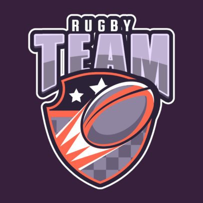 Rugby Logo Maker Featuring a Shield Graphic 1619k-2937