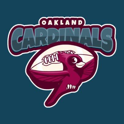 Mascot Logo Template for a Sports Team Featuring a Cute Cardinal Illustration 120rr-2934