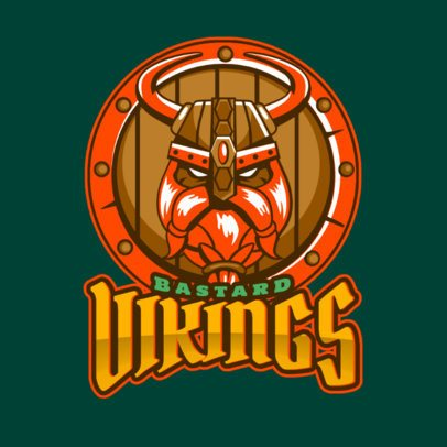 Gaming Logo Maker with a Viking's Character Face 1749p-2933