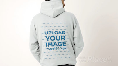 Hoodie Video of a Man Facing Backwards 32032