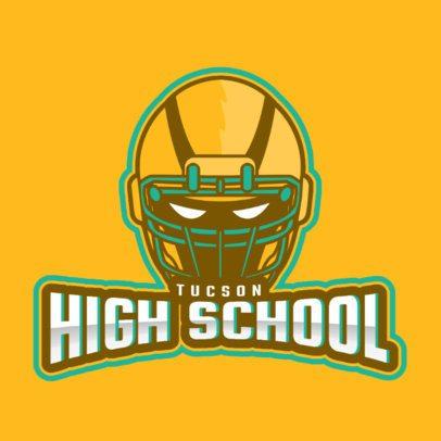 Sports Logo Maker Featuring a Powerful Football Helmet 1748t-2930