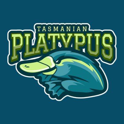 Mascot Logo Creator Featuring a Platypus 120ii-2935
