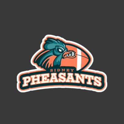 Logo Maker for a Sports Team Featuring a Pheasant Illustration 1616m-2934