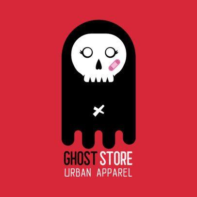 Streetwear Logo Creator Featuring a Ghost 252a-el1