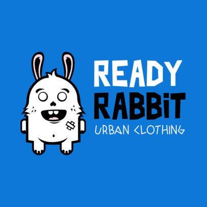 Urban Clothing Brand Logo Template Featuring a Cute Rabbit 252c-el1