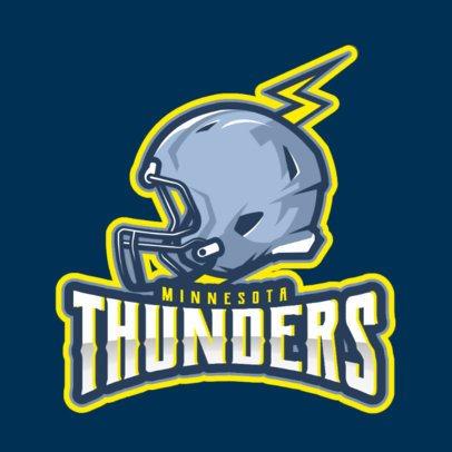 Football Logo Creator with a Helmet Clipart 1748w-2932