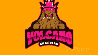 Logo Creator with an Animated Angry Volcano Erupting Graphic 383hh-2933