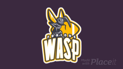 Animated Football Logo Generator with a Furious Wasp Illustration a245qq-2935