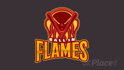 Animated Logo Maker with a Baseball Ball in Flames 172jj-2935