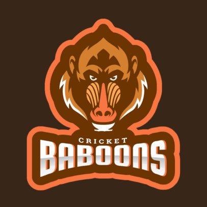Cricket Logo Maker Featuring a Wild Baboon 1649j-2937