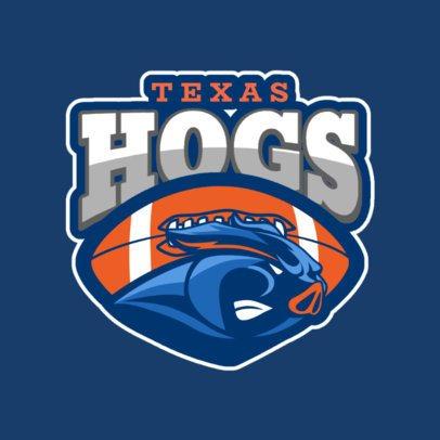 Football Logo Creator with a Hog Illustration 1619o-2931