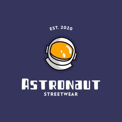 Streetwear Clothing Logo Maker Featuring an Astronaut Helmet 753a-el1