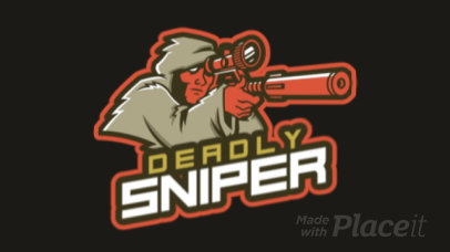 Animated Logo Template for Gamers With a Sniper Illustration 1743w-2928